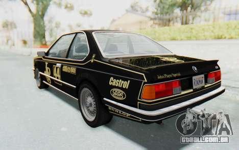 BMW M635 CSi (E24) 1984 IVF PJ3 para GTA San Andreas