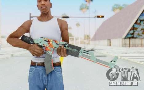 CS:GO - AK-47 Aquamarine Revenge para GTA San Andreas terceira tela