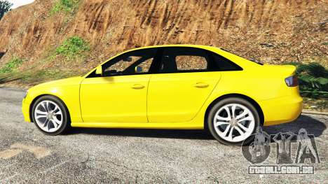 GTA 5 Audi A4 2009 vista lateral esquerda