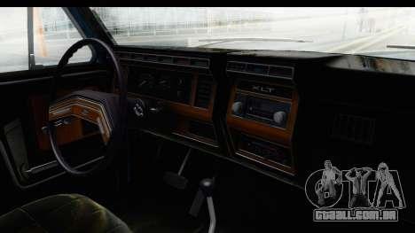 Ford Bronco 1980 Roof para GTA San Andreas vista interior