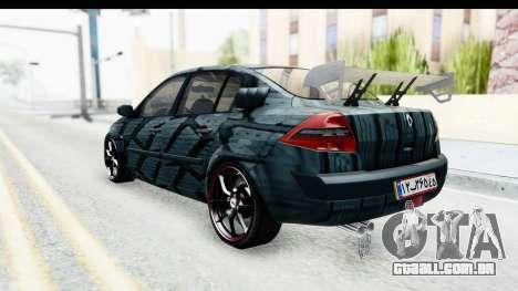 Renault Megane Sport para GTA San Andreas traseira esquerda vista