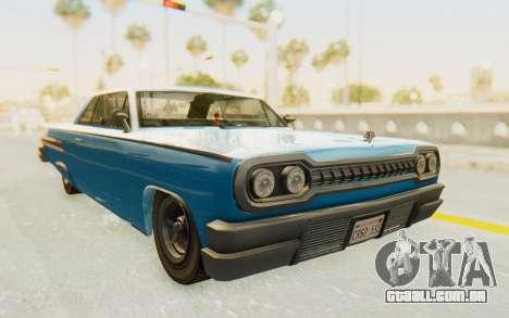 GTA 5 Declasse Voodoo PJ para GTA San Andreas vista direita