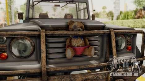 GTA 5 Canis Bodhi Trevor para GTA San Andreas vista traseira