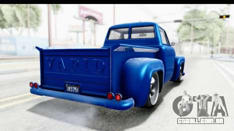 GTA 5 Vapid Slamvan Custom para GTA San Andreas