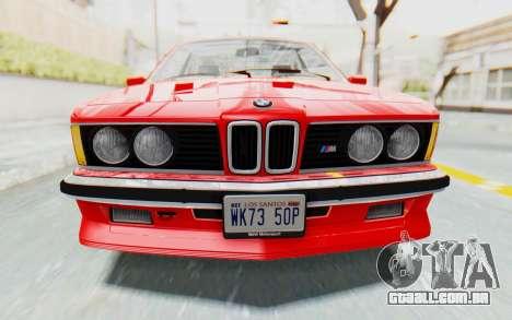 BMW M635 CSi (E24) 1984 IVF PJ2 para vista lateral GTA San Andreas