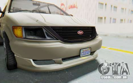 GTA 5 Vapid Minivan IVF para vista lateral GTA San Andreas