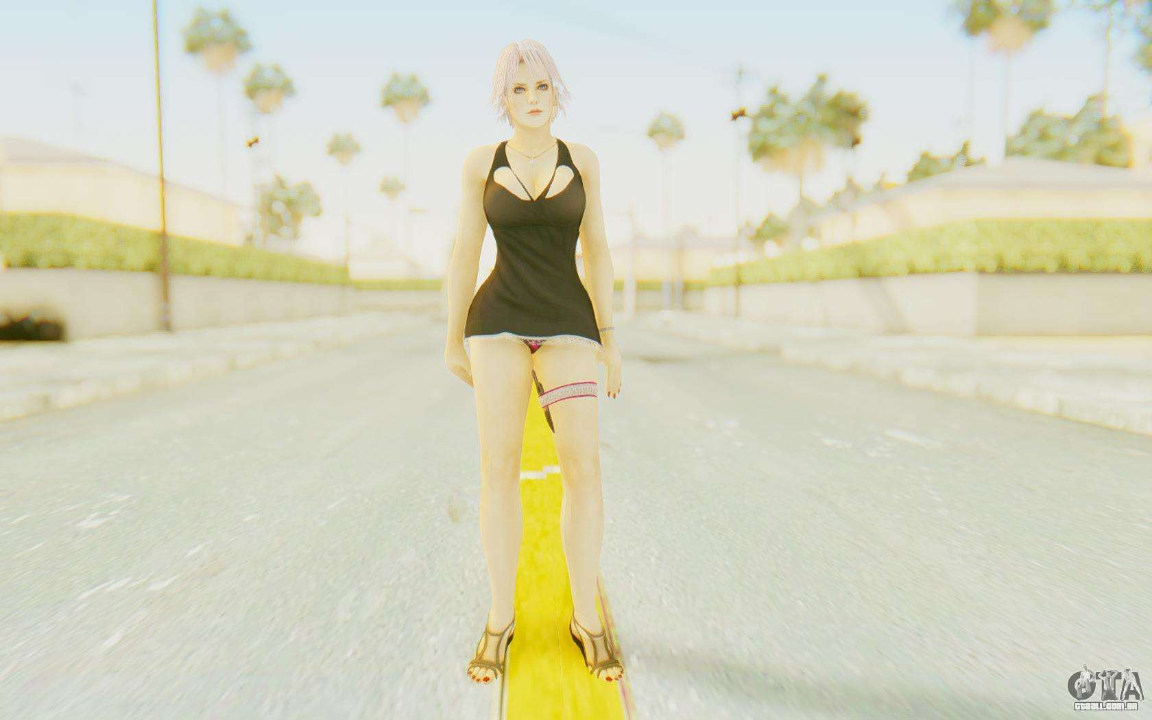 Black Dressed Girl para GTA San Andreas