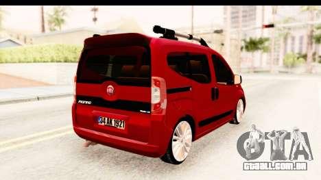 Fiat Fiorino v2 para GTA San Andreas esquerda vista