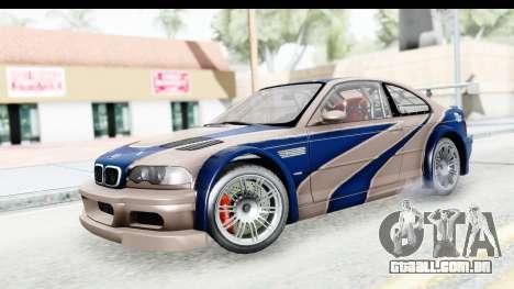 NFS Carbon - BMW M3 GTR para GTA San Andreas