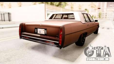 GTA 5 Albany Emperor SA Style para GTA San Andreas esquerda vista