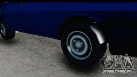 Dacia Liberta para GTA San Andreas vista traseira