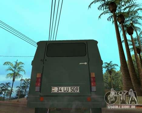 Eraz 762 Armenian para GTA San Andreas traseira esquerda vista