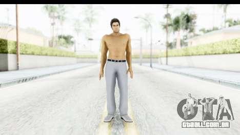 Yakuza 5 Kazuma Kiryu Topless Tatoo para GTA San Andreas segunda tela