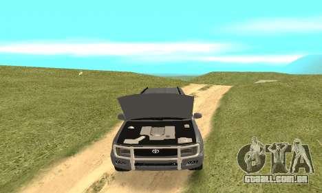 Toyota Land Cruiser 100 para vista lateral GTA San Andreas