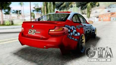 BMW M235i HGK para GTA San Andreas vista direita