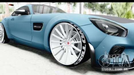 Mercedes-Benz AMG GT Prior Design para GTA San Andreas vista traseira