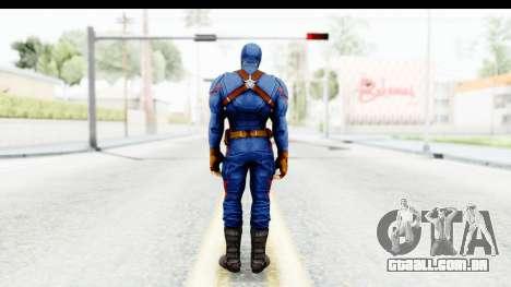Marvel Heroes - Capitan America CW para GTA San Andreas terceira tela