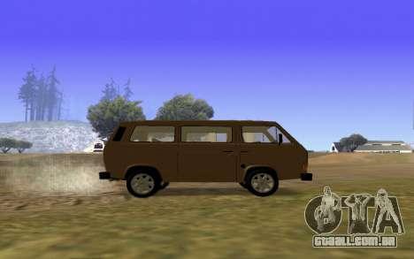Volkswagen Transporter T-3 Armenian para GTA San Andreas vista superior