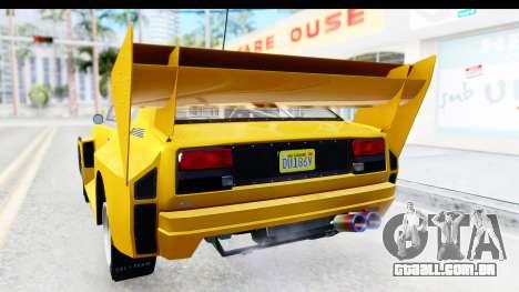 GTA 5 Obey Omnis IVF para GTA San Andreas interior