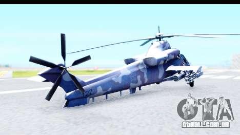 Denel AH-2 Rooivalk Blue para GTA San Andreas esquerda vista