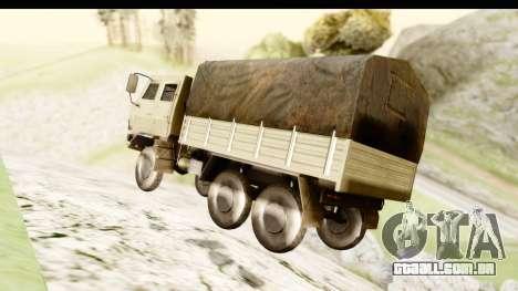 Dongfeng SX Military Truck para GTA San Andreas vista direita
