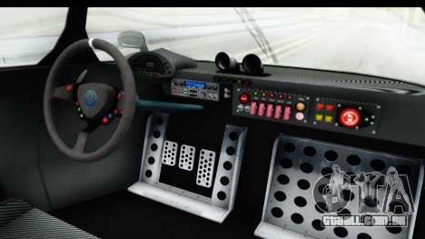 GTA 5 Annis RE7B para GTA San Andreas vista interior