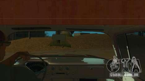 Chevrolet Apache para GTA San Andreas vista interior
