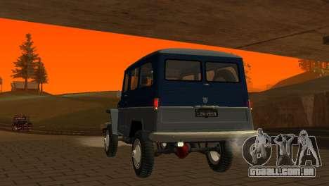 Jeep Station Wagon 1959 para GTA San Andreas vista superior