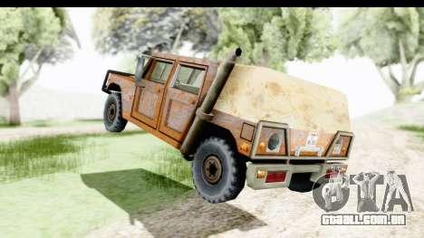 Rusted Patriot para GTA San Andreas traseira esquerda vista