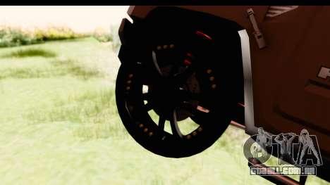 Hummer H2 para GTA San Andreas vista traseira