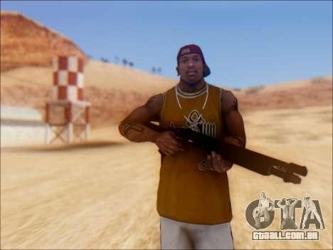 GTA V Shrewsbury Pump Shotgun para GTA San Andreas segunda tela