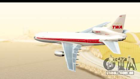 Lockheed L-1011-100 TriStar Trans World Airlines para GTA San Andreas esquerda vista