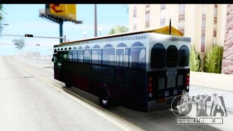 Cas Ligas Terengganu City Bus Updated para GTA San Andreas esquerda vista