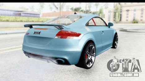 Audi TT RS para GTA San Andreas esquerda vista
