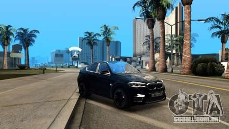BMW X6M Bulkin Edition para GTA San Andreas vista interior