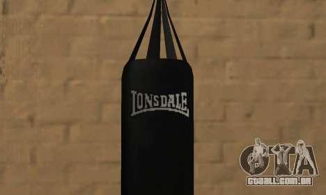 LonsDale saco de pancadas para GTA San Andreas segunda tela