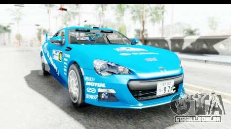 Subaru BRZ Rally para GTA San Andreas traseira esquerda vista