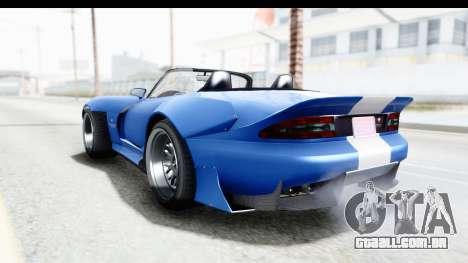GTA 5 Bravado Banshee 900R Mip Map IVF para GTA San Andreas traseira esquerda vista