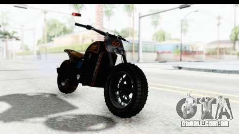 GTA 5 Western Gargoyle Custom v1 para GTA San Andreas traseira esquerda vista