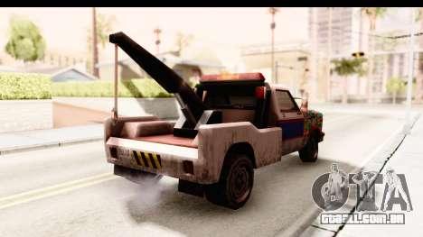 Towtruck Sticker Bomb para GTA San Andreas traseira esquerda vista