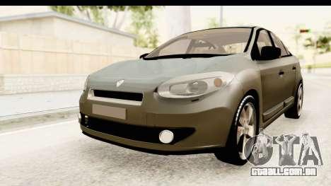 Renault Fluence v2 para GTA San Andreas vista direita