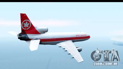 Lockheed L-1011-100 TriStar Air Canada para GTA San Andreas vista direita