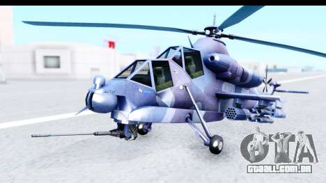 Denel AH-2 Rooivalk Blue para GTA San Andreas vista direita