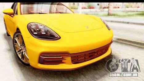 Porsche Panamera 4S 2017 v3 para GTA San Andreas vista traseira