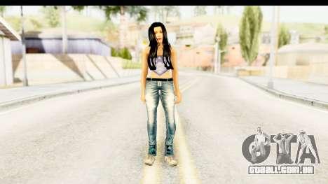 Gangsta Girl para GTA San Andreas segunda tela