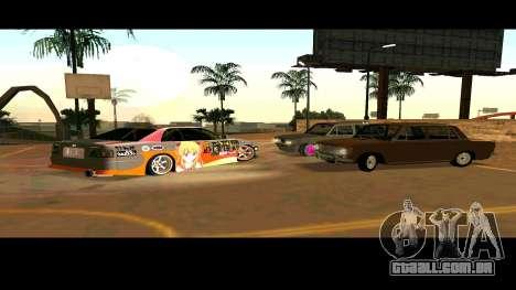 Toyota Chaser para GTA San Andreas vista inferior