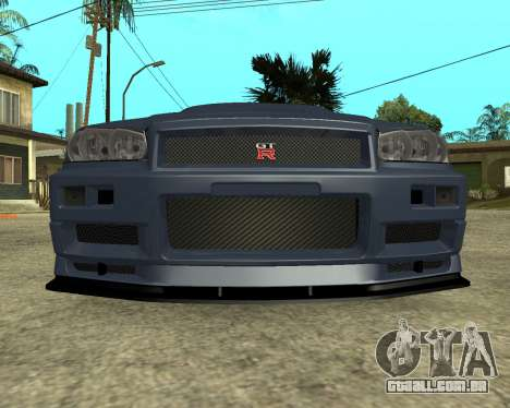 Nissan Skyline Armenia para GTA San Andreas esquerda vista