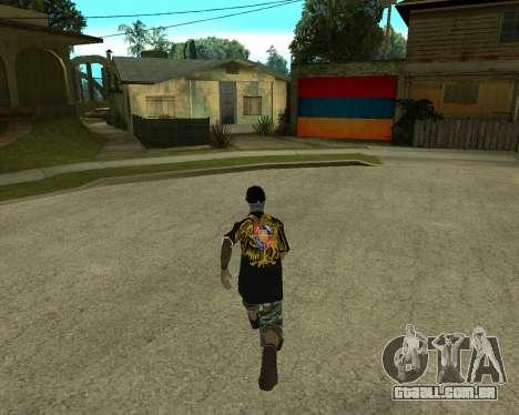 New Armenian Skin para GTA San Andreas por diante tela