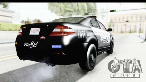 Sri Lanka Police Car v1 para GTA San Andreas vista direita
