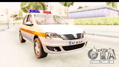 Dacia Logan Facelift Ambulanta v2 para GTA San Andreas vista direita